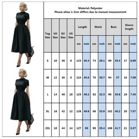 High Quality Elegant Black Dress Women Vintage Ladies Fit Flare Prom Party Night Formal Dress 2020 Retro Dresses Winter D30
